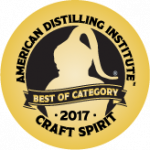 American Distilling Institute - Craft Spirit - 2017 Gold Medal badge