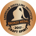 American Distilling Institute - Craft Spirit - 2017 Bronze Medal badge
