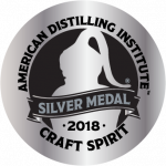 American Distilling Institute - Craft Spirit - 2018 Silver Medal badge