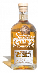 american whiskey in bottle from seacrets