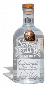 coconut flavored rum in bottle