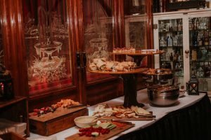 appetizers and meat and cheese display