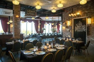 banquet room at seacrets distillery