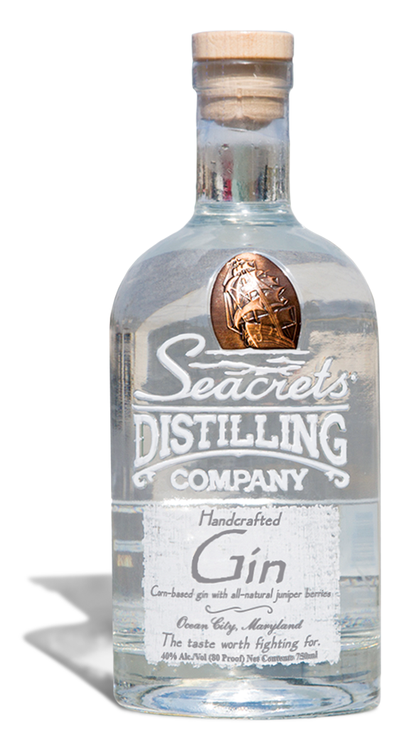 secrets gin bottle