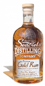 seacrets gold rum bottle