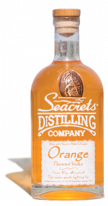 bottle of seacrets orange flavored vodka