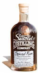 Bottle of spiced rum