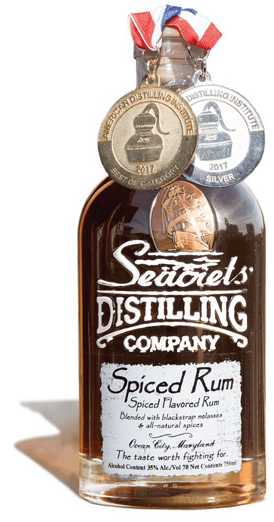1119 2019 Bottle With Shadow Spiced Rum With Medals