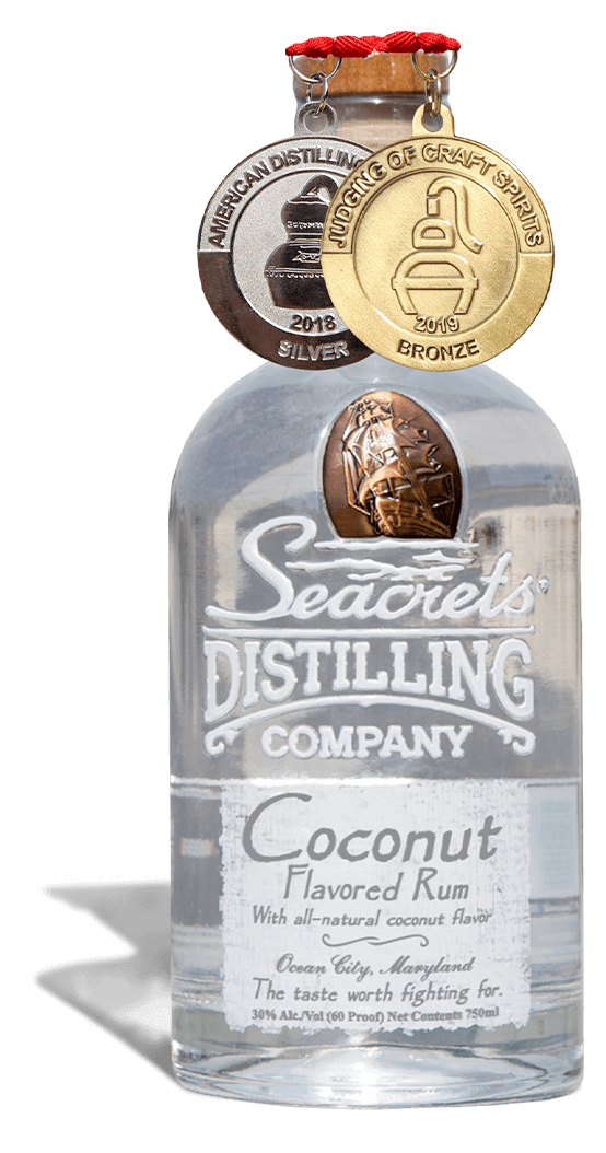 Coconut Rum 750ml Medals Shadow