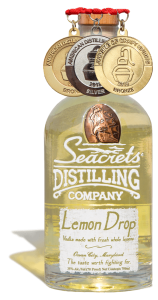 Lemon Drop Vodka 750ml Medals Shadow