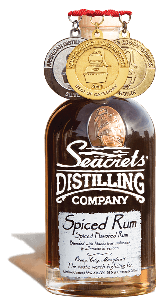 Spiced Rum 750ml Medals Shadow