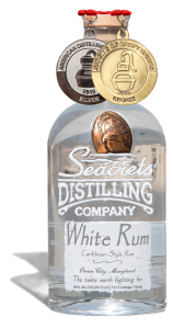 White Rum 750ml Medals Shadow