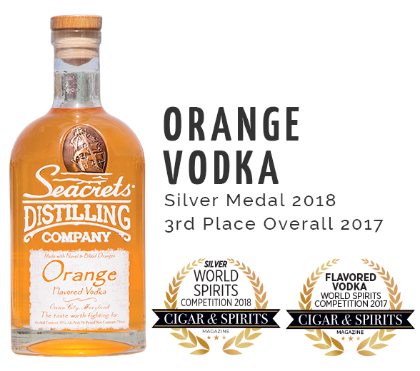 Orange Vodka C&S Award - Bronze Medal 2018